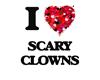 I love Scary Clowns Sticker