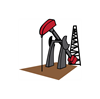 OIL RIG AND DERRICK Plus Size T-Shirt