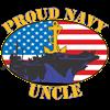 Proud Navy Uncle Men's Dark Pajamas