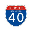Interstate  40 new mexico Gym Bags