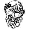 Evil Clown Oval Sticker