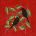 Crow Round Ornaments