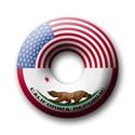 California souvenirs Buttons