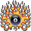 Flaming 8 Rectangle Sticker
