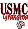 USMC Dog Tag Grandma Large Coffee Mug