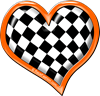 Orange Race Heart