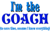 I'm the Coach -Blue