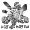 More Mud More Fun on an ATV (B/W) Women's V-Neck D