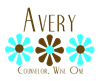 Avery - Blue/Brown Flowers Coffee Mug