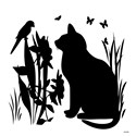 Black cat note cards Note Cards (20 Pack)