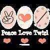 Peace Love Twirl Baton Twirling Long Sleeve Tee