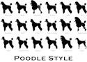 Standard poodle Large Mugs (15 oz)