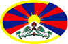 tibetan flag Oval Sticker