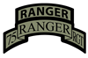 75th Ranger Regt Scroll with