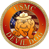 USMC Devil Dog Thermos Can Cooler
