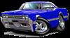 1966 Olds Cutlass Blue Car
