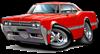 1966 Olds Cutlass Red Car