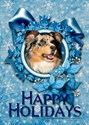 Australian shepherd christmas Greeting Cards (10 Pack)