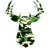 BUCK IN CAMO Ornament (Round)