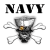 Navy Skull and Cross Bones