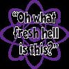 purple, Fresh Hell, atom