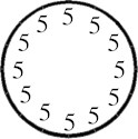 Five o clock clock Basic Clocks
