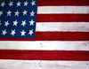 Patrotic flag on barn note c