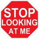 Stop looking at me Wall Clocks