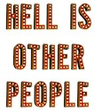 Hell is other people Framed Tiles