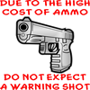 No Warning Shot.... Ornament (Oval)