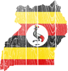 Uganda Flag And Map