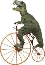 Tyrannosaurus rex on Penny Farthing