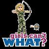 Camouflage Archery Girl - Blonde Customized Felt C