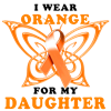 I Wear Orange for my Daughter Baseball