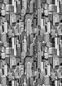 Black and white city Window Curtains