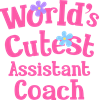 World's Cutest Assistant coach Ceramic Travel Coffee Mug