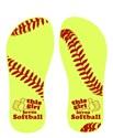 Softball girl Flip Flops