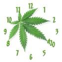 Marijuana leaf Wall Clocks