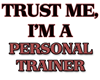 Trust Me, I'm a Personal Trainer Fitted Hoodie