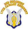 DUI - 2nd Squadron - 17th Cavalry Regt with Text S