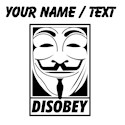 Anonymous disobey Pint Glasses