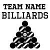 (Team Name) Billiards T-Shirt