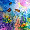 Butterflys Round Tablecloth