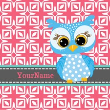 Beautiful Teal Owl Personalized