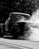 Vintage Truck Hot Smoking Tires