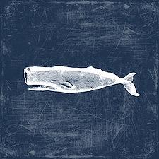 Vintage Whale White