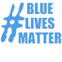 Blue lives matter Water Bottles