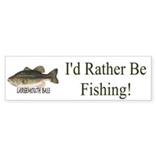 Id Rather Be Fishing Bumper Bumper Sticker