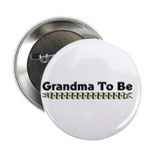 "Grandma To Be Ribbon 2.25"" Button"