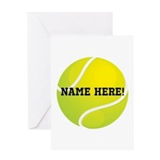 Personalized Tennis Ball Greeting Cards